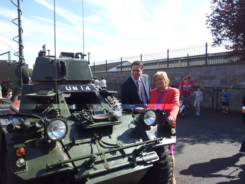 With Minister for Justice Frances Fitzgerald In Newbridge